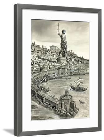 Colossus of Rhodes-Peter Jackson-Framed Giclee Print