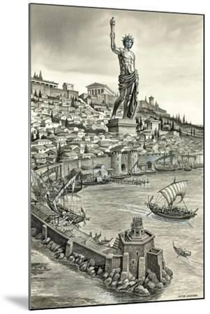 Colossus of Rhodes-Peter Jackson-Mounted Giclee Print
