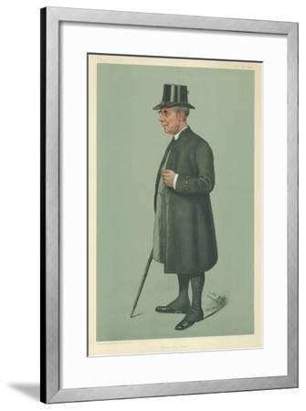 The Bishop of Winchester, Prelate of the Garter, 19 December 1901, Vanity Fair Cartoon-Sir Leslie Ward-Framed Giclee Print