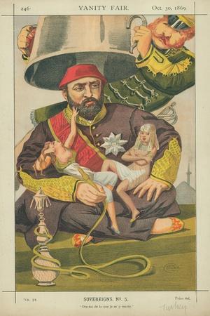 Abdul-Aziz, Sultan of Turkey, Ote-Toi De La Que Je M' Y Mette, 30 October 1869, Vanity Fair Cartoon-James Tissot-Framed Giclee Print