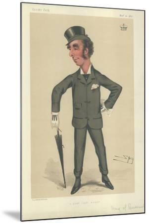 The Marquess of Queensbury-Sir Leslie Ward-Mounted Giclee Print