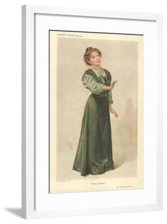Miss Christabel Pankhurst-Sir Leslie Ward-Framed Giclee Print