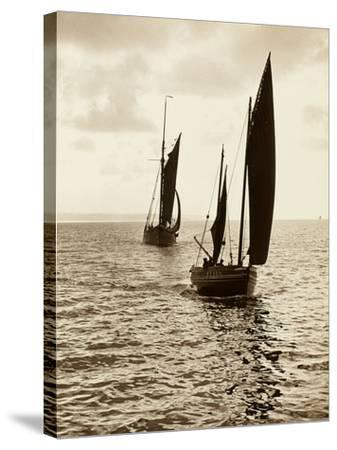 Newlyn Fishing Boats--Stretched Canvas Print