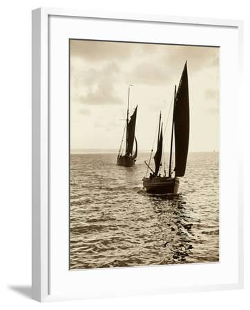 Newlyn Fishing Boats--Framed Photographic Print