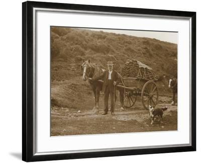 Peat Cutter's Cart, Dartmoor--Framed Photographic Print
