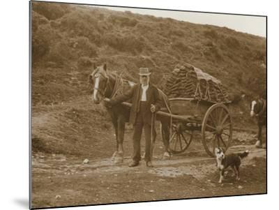 Peat Cutter's Cart, Dartmoor--Mounted Photographic Print