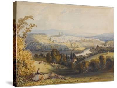 Exeter from Exwick, 1773-William Havell-Stretched Canvas Print