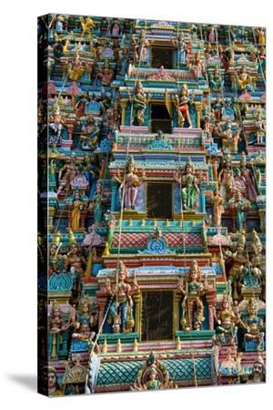 Exquisitely Detailed Carvings on the Gopuram (Tower) of the Durga Devi Temple in Vidyaranyapura,…--Stretched Canvas Print
