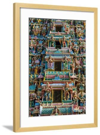 Exquisitely Detailed Carvings on the Gopuram (Tower) of the Durga Devi Temple in Vidyaranyapura,…--Framed Giclee Print