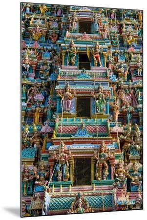 Exquisitely Detailed Carvings on the Gopuram (Tower) of the Durga Devi Temple in Vidyaranyapura,…--Mounted Giclee Print