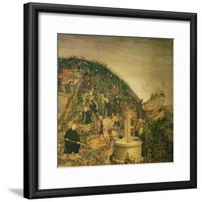 The Vineyard of the Lord, 1569 (Detail)-Lucas Cranach the Younger-Framed Giclee Print