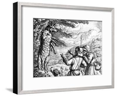 The Wolf in Sheep's Clothing, 1687-Francis Barlow-Framed Giclee Print