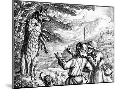 The Wolf in Sheep's Clothing, 1687-Francis Barlow-Mounted Giclee Print