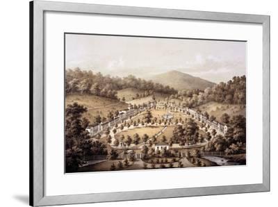 White Sulphur Springs, Montgomery County, from 'Album of Virginia', 1858-Edward Beyer-Framed Giclee Print