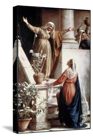The Visitation-Carl Bloch-Stretched Canvas Print