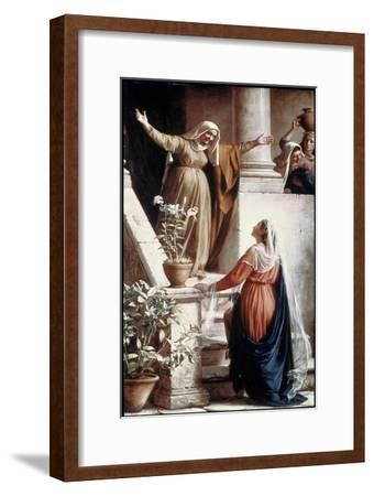 The Visitation-Carl Bloch-Framed Giclee Print