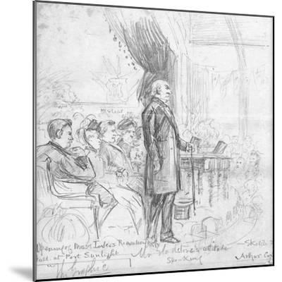 Mr Gladstone's Attitude Speaking, 1891-Charles A. Cox-Mounted Giclee Print