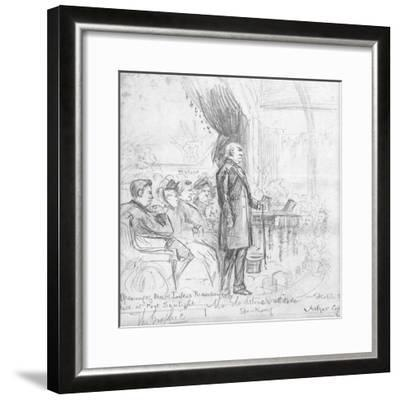 Mr Gladstone's Attitude Speaking, 1891-Charles A. Cox-Framed Giclee Print