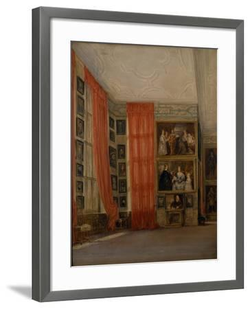 The Long Gallery at Hardwick-David Cox-Framed Giclee Print
