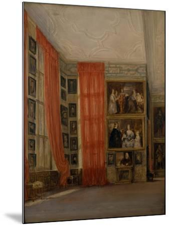The Long Gallery at Hardwick-David Cox-Mounted Giclee Print
