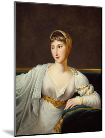 Portrait of Princess Pauline Borghese, Wife of General Leclerc-Robert Lefevre-Mounted Giclee Print