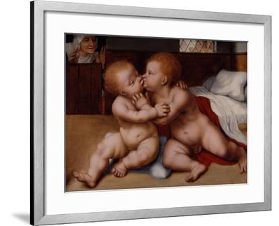 The Infant Christ with the Infant St John the Baptist-Quentin Massys or Metsys-Framed Giclee Print