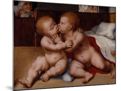 The Infant Christ with the Infant St John the Baptist-Quentin Massys or Metsys-Mounted Giclee Print