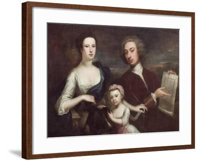 Portrait of Richard Boyle and Dorothy Savile-William Aikman-Framed Giclee Print