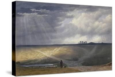 View of Stonehenge-J^ M^ W^ Turner-Stretched Canvas Print
