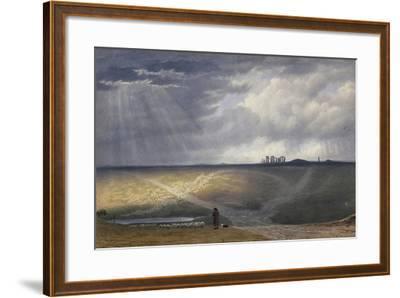 View of Stonehenge-J^ M^ W^ Turner-Framed Giclee Print