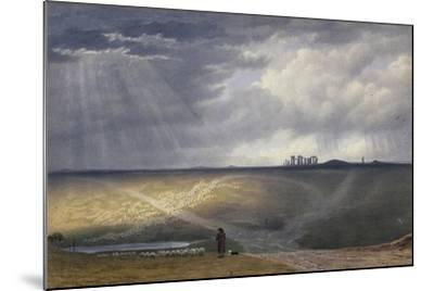 View of Stonehenge-J^ M^ W^ Turner-Mounted Giclee Print