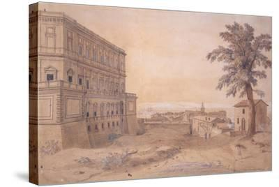 The Palazzo Farnese at Caprarola-Gaspar van Wittel-Stretched Canvas Print