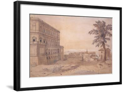 The Palazzo Farnese at Caprarola-Gaspar van Wittel-Framed Giclee Print