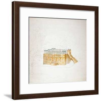 Queen Mary's Bower, Chatsworth-Sir Jeffry Wyatville-Framed Giclee Print