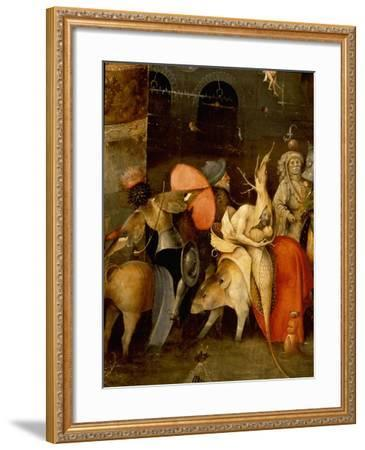 "The Triptych of ""The Temptation of St Anthony"" by Hieronymus Bosch (1450 - 1516)--Framed Giclee Print"