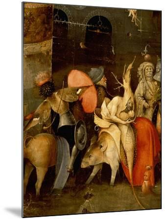 "The Triptych of ""The Temptation of St Anthony"" by Hieronymus Bosch (1450 - 1516)--Mounted Giclee Print"