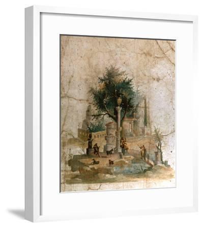 A Fresco from the Villa of Agrippa Postumus at Boscotrecase, Pompeii--Framed Giclee Print