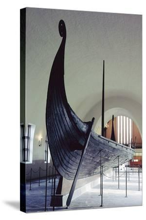 The Oseberg Ship--Stretched Canvas Print