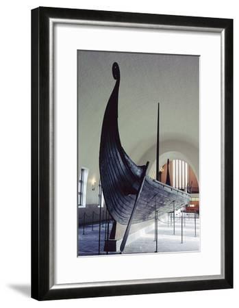 The Oseberg Ship--Framed Giclee Print