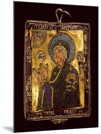 A Small Gold and Enamelled Reliquary Which Would Have Been Worn around the Neck to Protect the…--Mounted Giclee Print