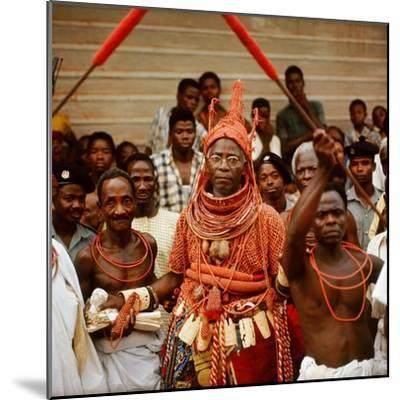 The Late Oba Akenzua II in Full Regalia, Including a Coral Garment and Headpiece--Mounted Giclee Print