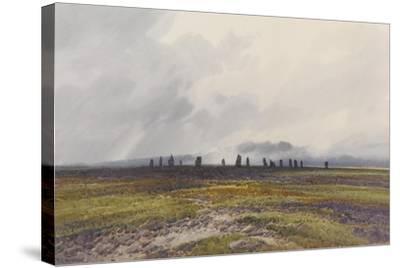 Sacred Circle, Mis Tor, Langstone Moor, Dartmoor , C.1895-96-Frederick John Widgery-Stretched Canvas Print