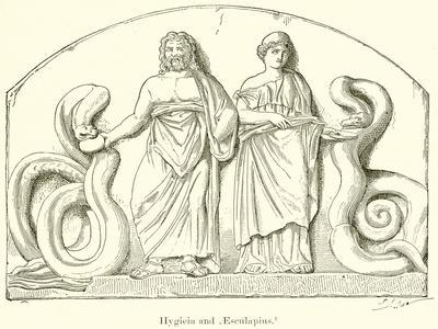 Hygieia and Aesculapius--Framed Giclee Print