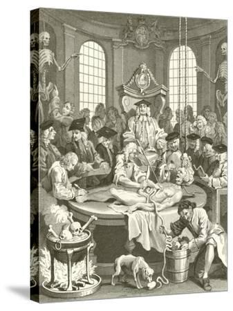 The Four Stages of Cruelty-William Hogarth-Stretched Canvas Print