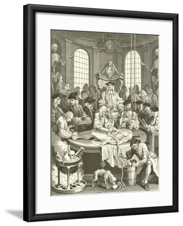 The Four Stages of Cruelty-William Hogarth-Framed Giclee Print