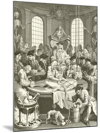 The Four Stages of Cruelty-William Hogarth-Mounted Giclee Print
