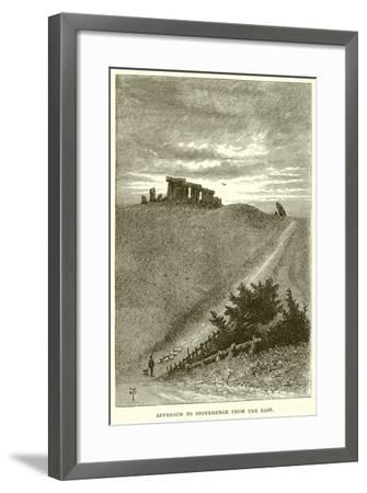 Approach to Stonehenge from the East--Framed Giclee Print
