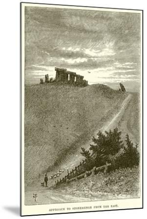 Approach to Stonehenge from the East--Mounted Giclee Print