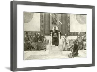 Justinian and His Council-English School-Framed Giclee Print