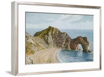 Durdle Door Near Lulworth-Alfred Robert Quinton-Framed Giclee Print